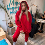 Load image into Gallery viewer, Streetwear Women Joggers & Sweatshirt Hopikas red st4 United States L