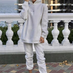 Load image into Gallery viewer, Streetwear Women Joggers & Sweatshirt Hopikas white st4 United States M