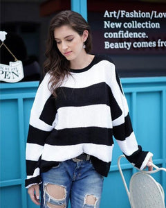 Striped Sweater Hopikas black M