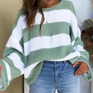 Striped Sweater Hopikas light green S