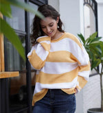 Load image into Gallery viewer, Striped Sweater Hopikas yellow M