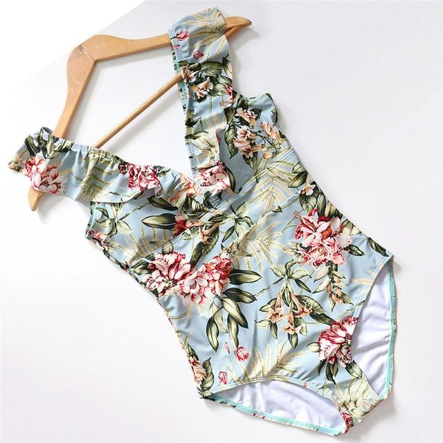 Striped Swimsuit Hopikas Floral Printed L