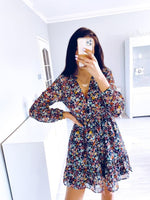 Load image into Gallery viewer, Summer Boho Floral Dress Hopikas Print XS