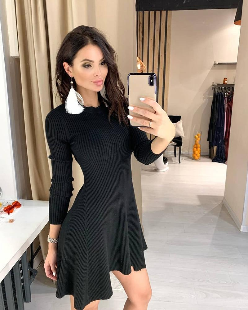 Sweater Dress Hopikas Black One Size