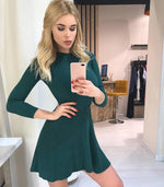 Load image into Gallery viewer, Sweater Dress Hopikas Dark Green One Size