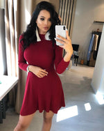 Load image into Gallery viewer, Sweater Dress Hopikas Wine Red One Size
