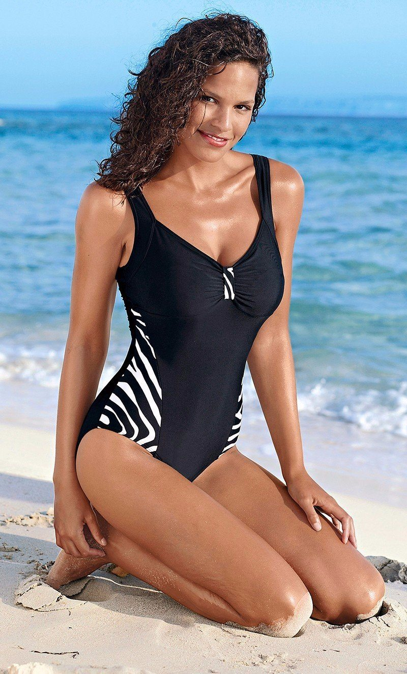 Swim Suit Stripe Hopikas BLACK L