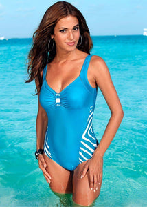 Swim Suit Stripe Hopikas SKY BLUE L