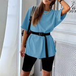 T-shirt and shorts Hopikas Blue-Black L
