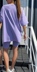 T-shirt and shorts Hopikas Purple S