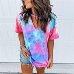 Tie Dye Tops Hopikas rosered XXL China