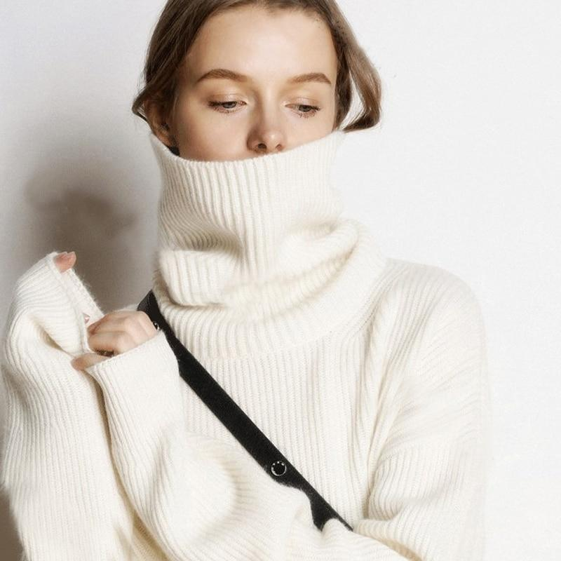 Turtleneck Knitted Sweater Hopikas