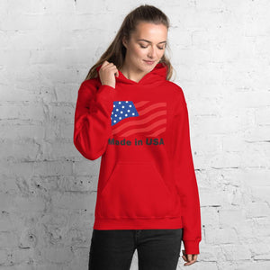 Unisex Hoodie with American flag Hopikas Red S