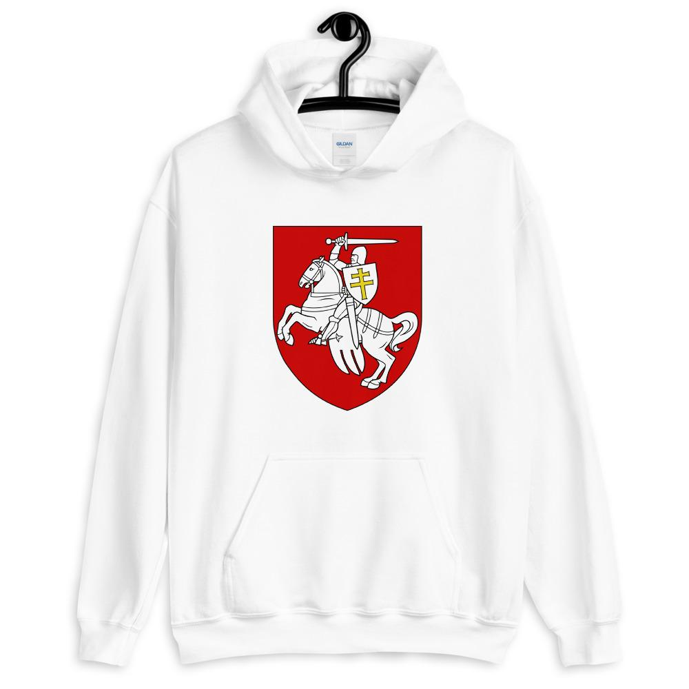 "Unisex Hoodie with coat of arms ""Chase"" Hopikas White S"