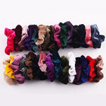 Load image into Gallery viewer, Velvet Scrunchie (Elastic Hair Bands) Hopikas