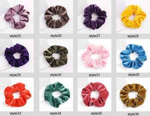 Velvet Scrunchie (Elastic Hair Bands) Hopikas