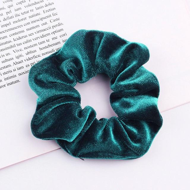 Velvet Scrunchie (Elastic Hair Bands) Hopikas style 10 China One Size