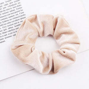 Velvet Scrunchie (Elastic Hair Bands) Hopikas style 11 China One Size