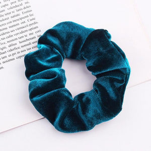 Velvet Scrunchie (Elastic Hair Bands) Hopikas style 12 China One Size