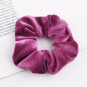 Velvet Scrunchie (Elastic Hair Bands) Hopikas style 14 China One Size