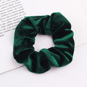 Velvet Scrunchie (Elastic Hair Bands) Hopikas style 18 China One Size