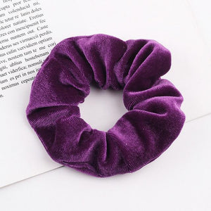 Velvet Scrunchie (Elastic Hair Bands) Hopikas style 19 China One Size