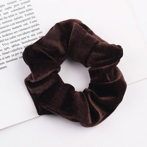 Velvet Scrunchie (Elastic Hair Bands) Hopikas style 2 China One Size