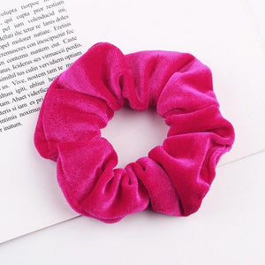 Velvet Scrunchie (Elastic Hair Bands) Hopikas style 20 China One Size