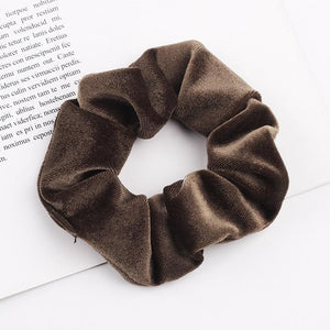 Velvet Scrunchie (Elastic Hair Bands) Hopikas style 21 China One Size