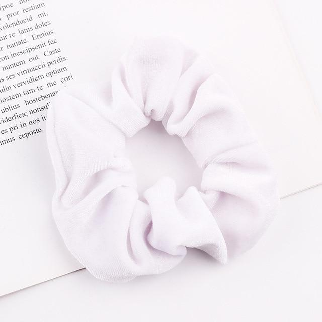 Velvet Scrunchie (Elastic Hair Bands) Hopikas style 23 China One Size