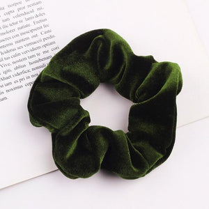 Velvet Scrunchie (Elastic Hair Bands) Hopikas style 24 China One Size