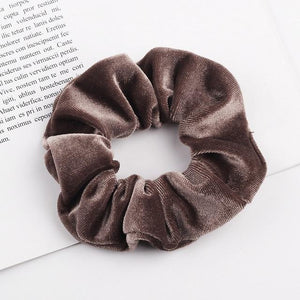 Velvet Scrunchie (Elastic Hair Bands) Hopikas style 26 China One Size
