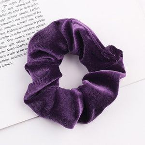 Velvet Scrunchie (Elastic Hair Bands) Hopikas style 27 China One Size
