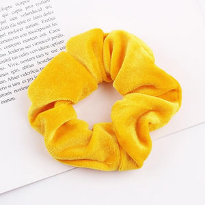 Velvet Scrunchie (Elastic Hair Bands) Hopikas style 28 China One Size