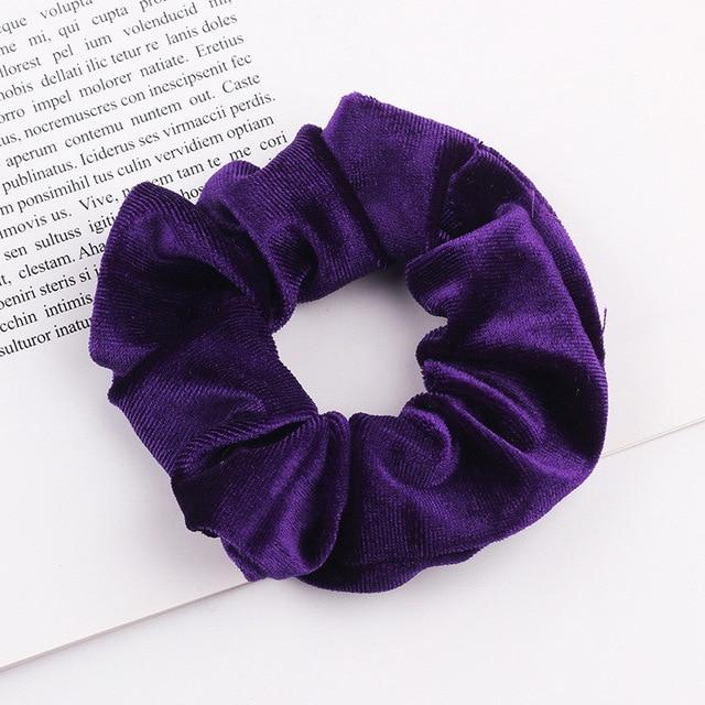 Velvet Scrunchie (Elastic Hair Bands) Hopikas style 29 China One Size