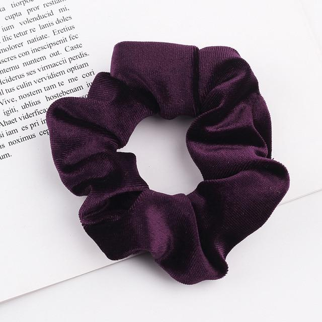 Velvet Scrunchie (Elastic Hair Bands) Hopikas style 3 China One Size