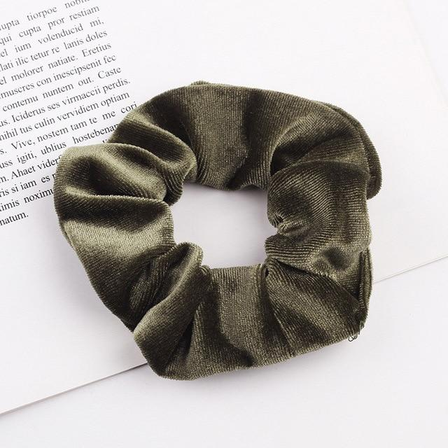 Velvet Scrunchie (Elastic Hair Bands) Hopikas style 30 China One Size