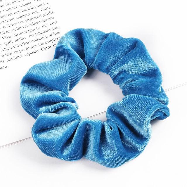 Velvet Scrunchie (Elastic Hair Bands) Hopikas style 32 China One Size