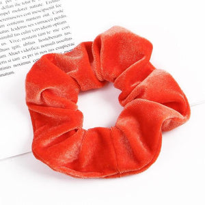 Velvet Scrunchie (Elastic Hair Bands) Hopikas style 33 China One Size