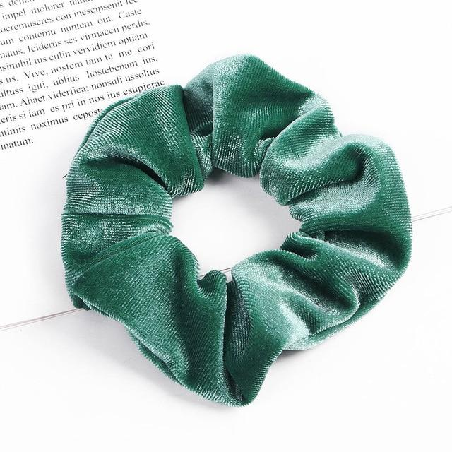 Velvet Scrunchie (Elastic Hair Bands) Hopikas style 34 China One Size