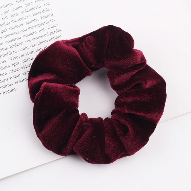 Velvet Scrunchie (Elastic Hair Bands) Hopikas style 4 China One Size