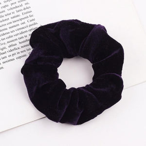 Velvet Scrunchie (Elastic Hair Bands) Hopikas style 5 China One Size