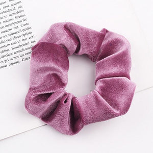 Velvet Scrunchie (Elastic Hair Bands) Hopikas style 6 China One Size
