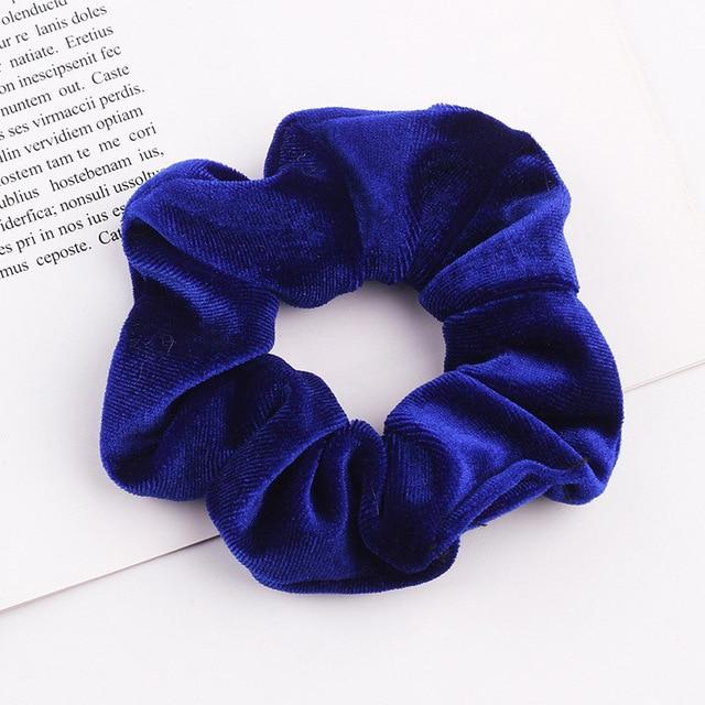 Velvet Scrunchie (Elastic Hair Bands) Hopikas style 7 China One Size