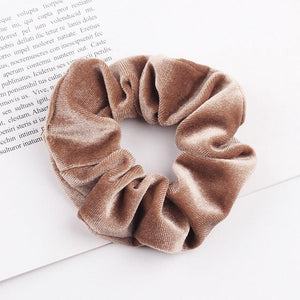 Velvet Scrunchie (Elastic Hair Bands) Hopikas style 8 China One Size