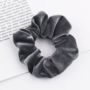 Velvet Scrunchie (Elastic Hair Bands) Hopikas style 9 China One Size