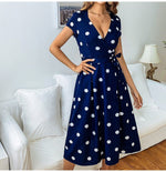 Load image into Gallery viewer, Vintage Polka Dot Print Dress Hopikas