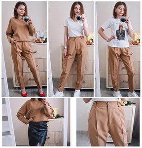 Vintage Women High Waist Pants Hopikas