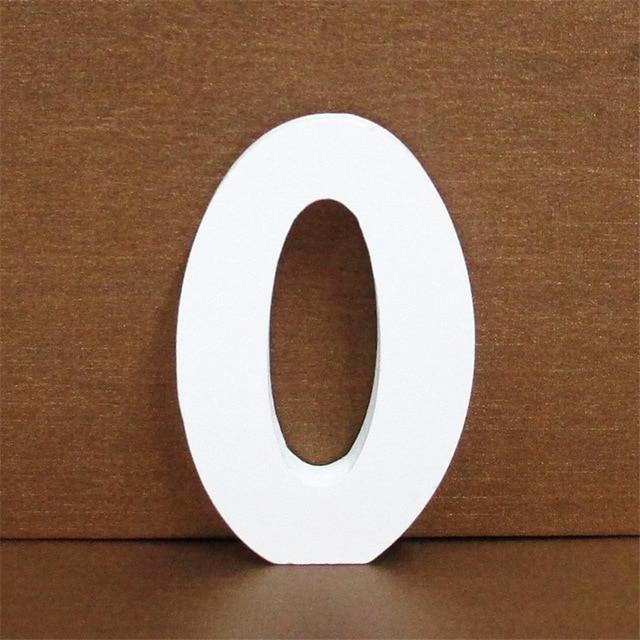White Wooden Letter English Alphabet | Home Decor Hopikas 0 10CMX10CM