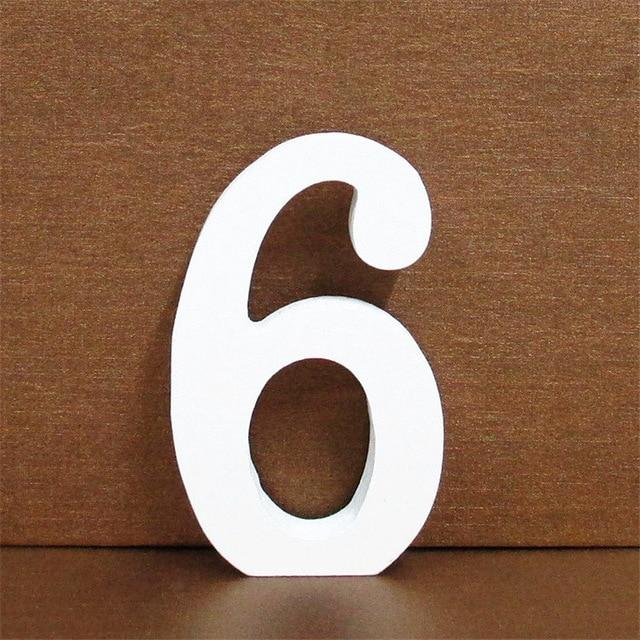 White Wooden Letter English Alphabet | Home Decor Hopikas 6 10CMX10CM